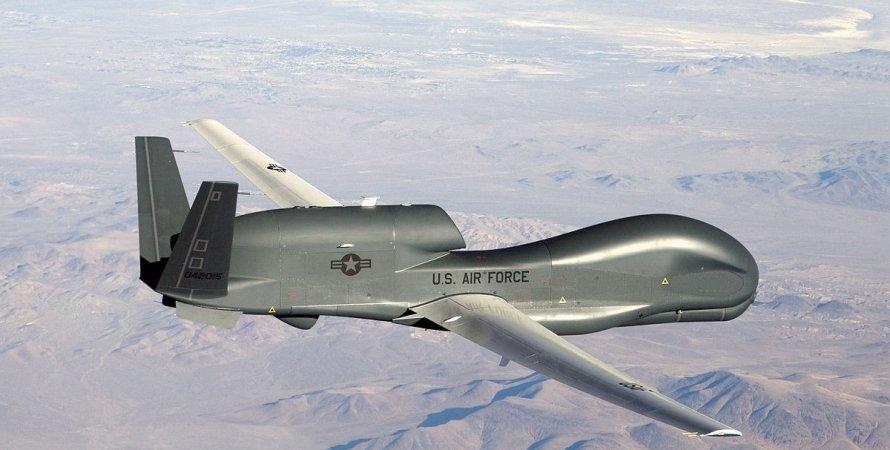 Самолет, БПЛА, Крым, США, Великобритания, Авиаразведка, Global Hawk, RC-135W