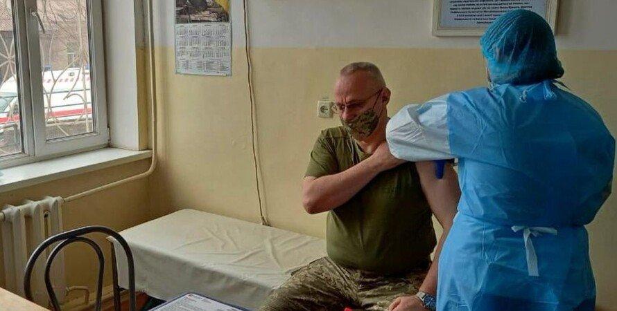 Руслан Хомчак, ВСУ, главнокомандующий, коронавирус, вакцинация,