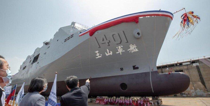 """""""Юй Шань"""", Тайвань, Десантний корабель, Цай Інвень, Озброєння"""