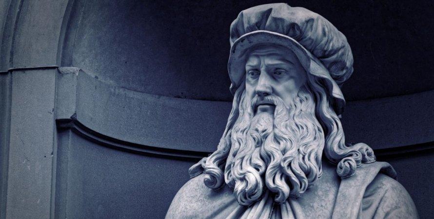 Леонардо да Винчи , статуя, фото