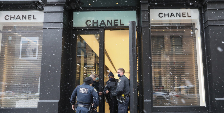 Chanel, магазин, ограбление, сумочки