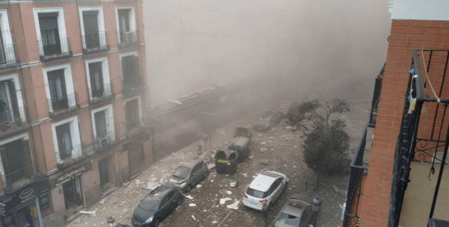 взрыв, мадрид, пыль