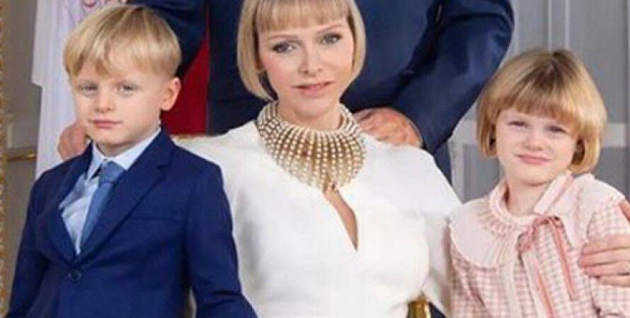 Новый портрет королевской семьи Монако фото