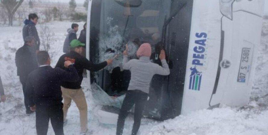 автобус, дтп, турция, российские туристы