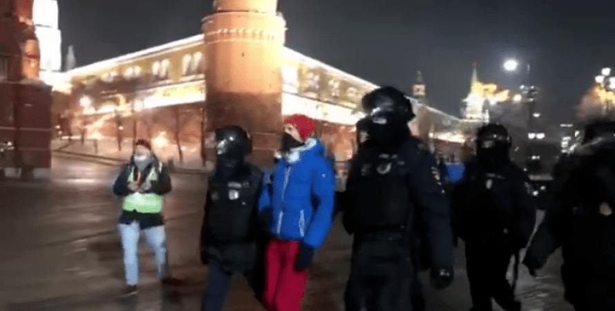 митинг, москва, задержание, навальный, омон