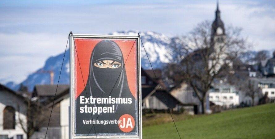 Швейцарія, Мусульмани, паранджа, референдум
