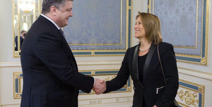 Петр Порошенко и Грете Фаремо / Фото: Пресс-служба президента