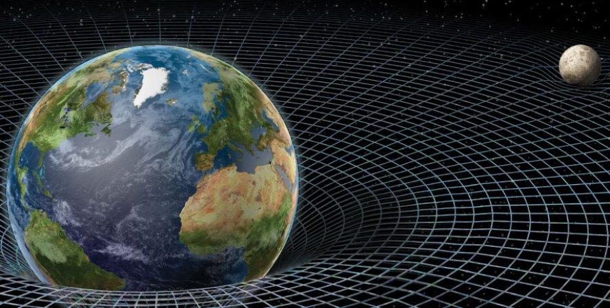 гравітаційний колодязь, Земля, лінії, Місяць, ілюстрація
