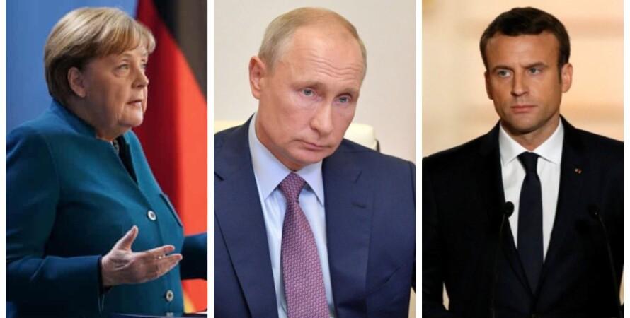 Меркель, Путин, Макрон, разговор, о чем говорили