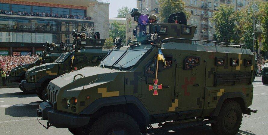 джавелин, парад, украина, всу, броневик, площадь