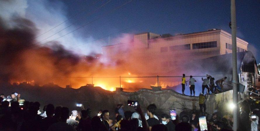 Ирак, пожар в Ираке, пожар в COVID-отделении