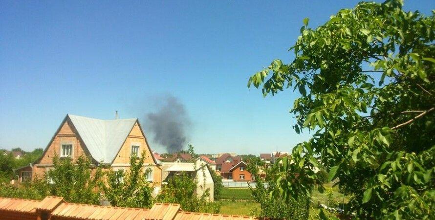 Дым над горящей нефтебазой / Фото: Facebook