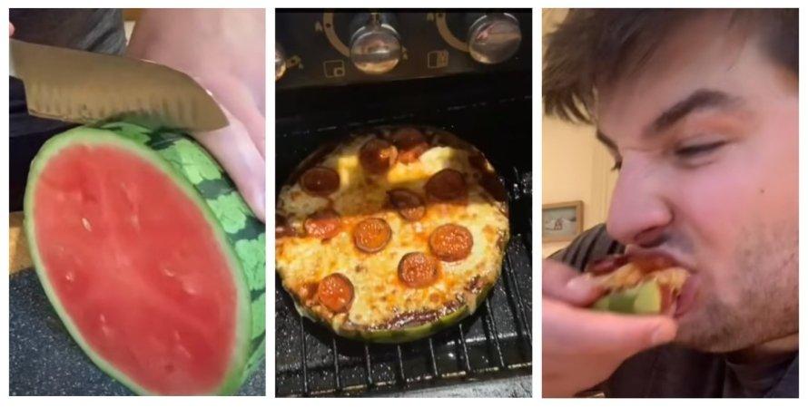 пицца, арбуз, арбузная пицца