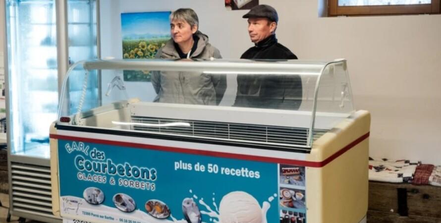 фермеры, Патрис и  Екатерина Риауте, мороженое