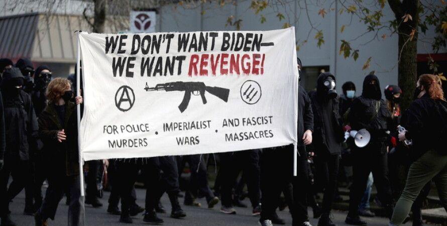 анархисты, сша, портленд, сиэтл, америке, протесты
