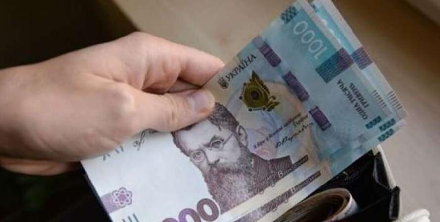 деньги, купюры, 1000 гривен, зарплата, госстат