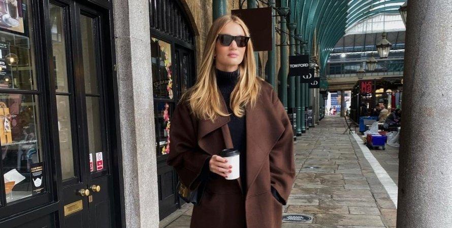 Рози Хантингтон-Уайтли, пальто, модель, лондон