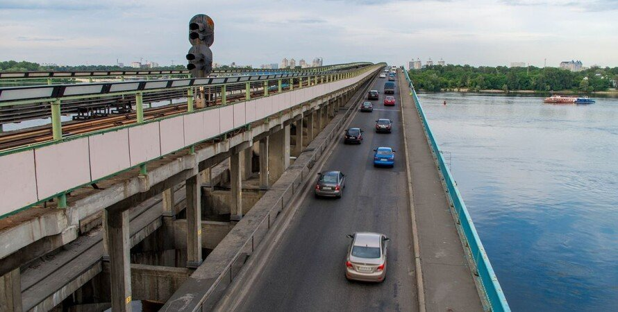 Киев, мост метро, ремонт, транспорт, ограничение движения,