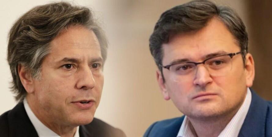 Дмитрий Кулеба, Энтони Блинкен, Ситуация на Донбассе, Телефонный разговор