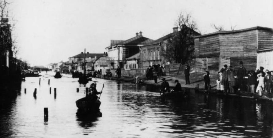 Повінь в Києві 1890, ретро фото