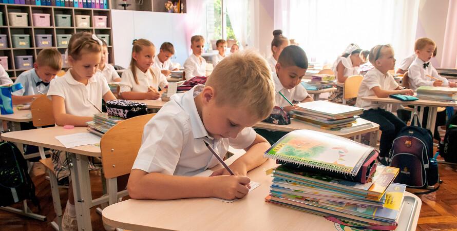 школа, урок, 1 сентября, школьники за партами - фото