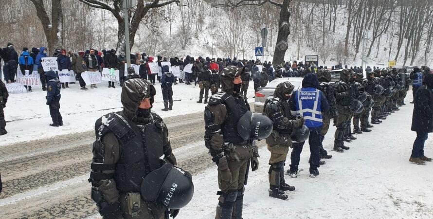 """акция протеста в Киеве, протесты возле """"Парковый"""""""