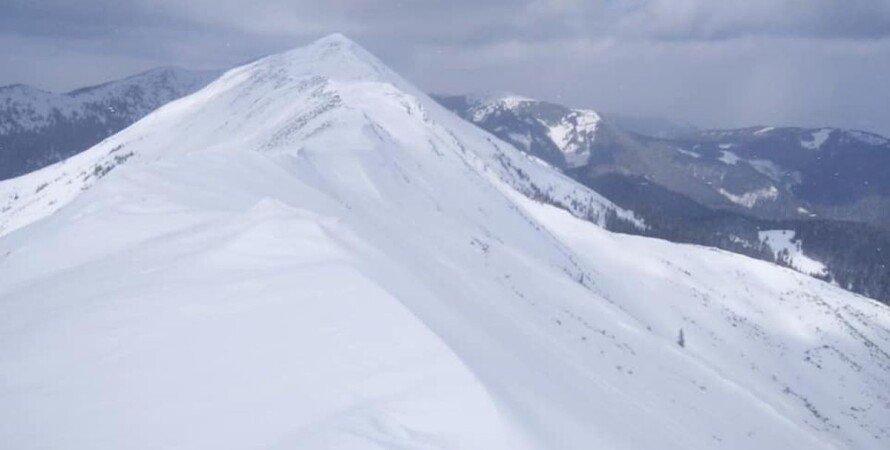 Карпаты, снег, снегопад, лавины,