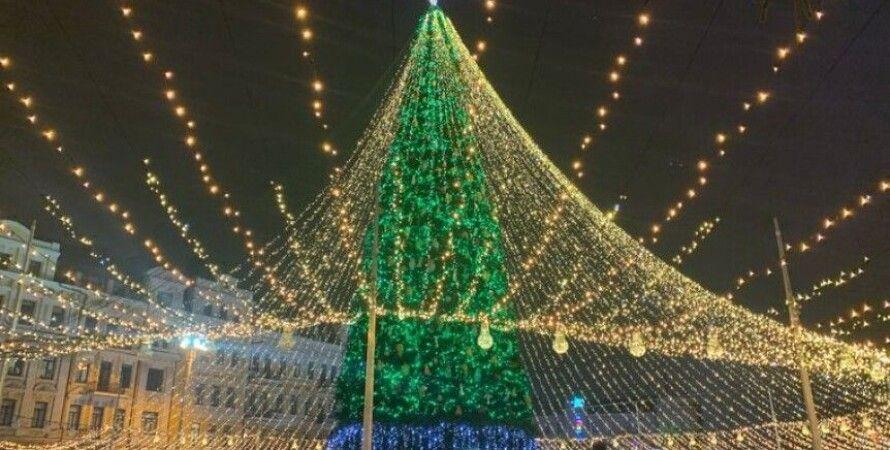 софийская площадь, новогодняя елка, рождественская елка, главная елка, Олег Рубан, коронавирус в украине, Карантин
