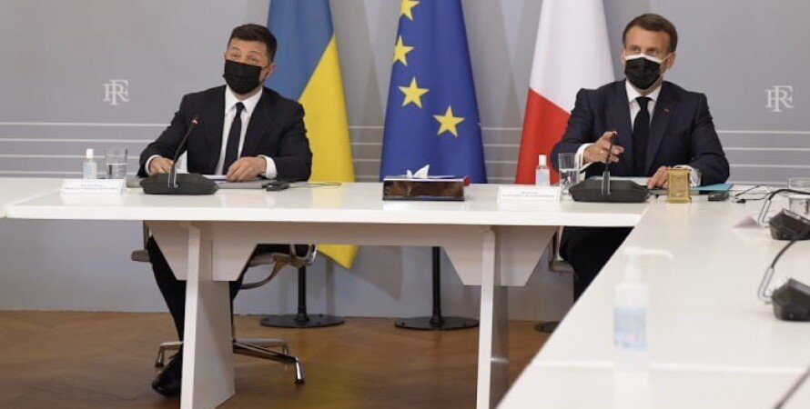 Зеленский, Макрон, встреча зеленского и Макрона, твит макрона на украинском, макрон заговорил на украинском