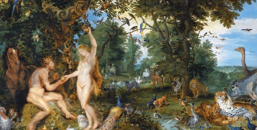 запретный плод, яблоко, фрукт, Эдемский сад, райский сад