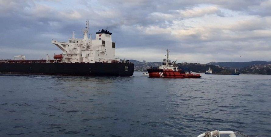 RAVA, танкер, нафтовий танкер, нафта, босфор, аварія, несправність, протока босфор, рух зупинено, закрито рух