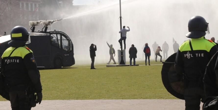 протест, карантин, коронавирус, разгон, варшава, фото, амстердам