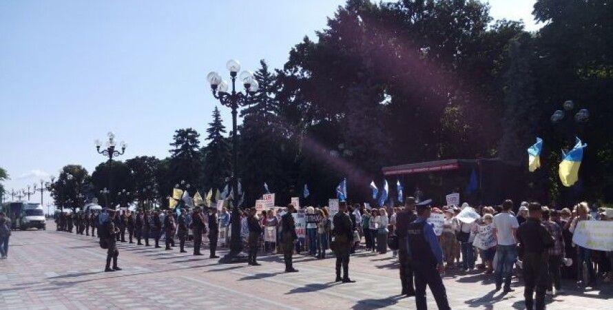 """Митинги под Верховной Радой / Фото: """"РБК-Украина"""""""