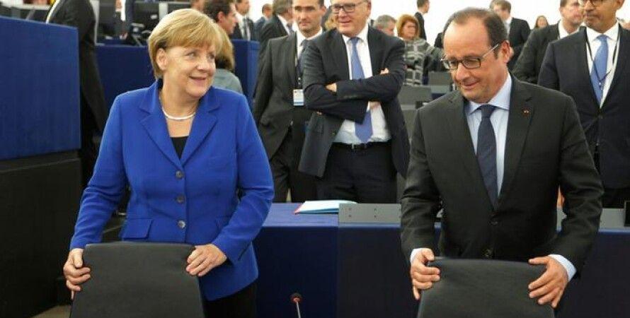 Ангела Меркель и Франсуа Олланд / Фото: Reuters