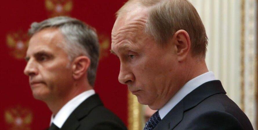 Дидье Буркхальтер и Владимир Путин / Фото: Reuters