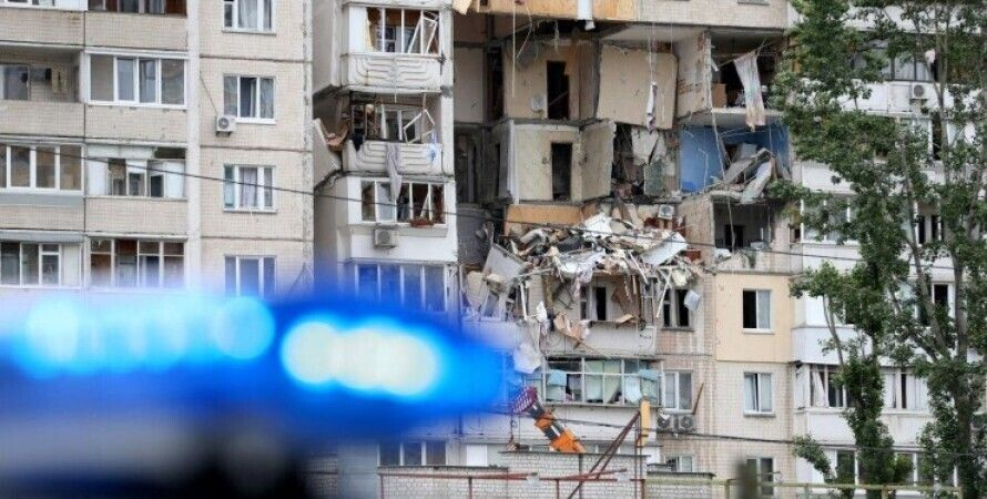 демонтаж,  дом, взрыв на позняках