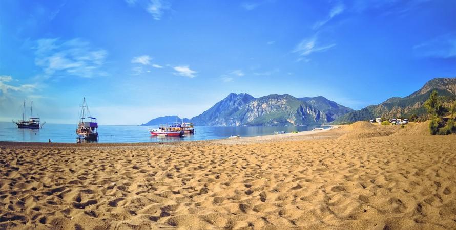 чиралы, турция, пляж, курорт