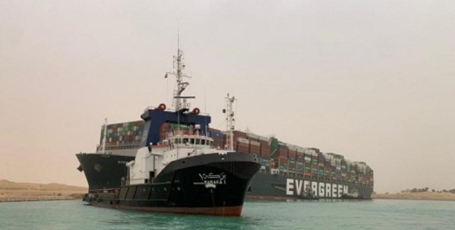 блокування, суецький, канал, контейнеровоз, судноплавство, втрати, фото