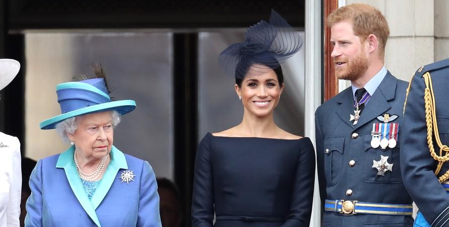 Єлизавета II, принц Гаррі, Меган Маркл