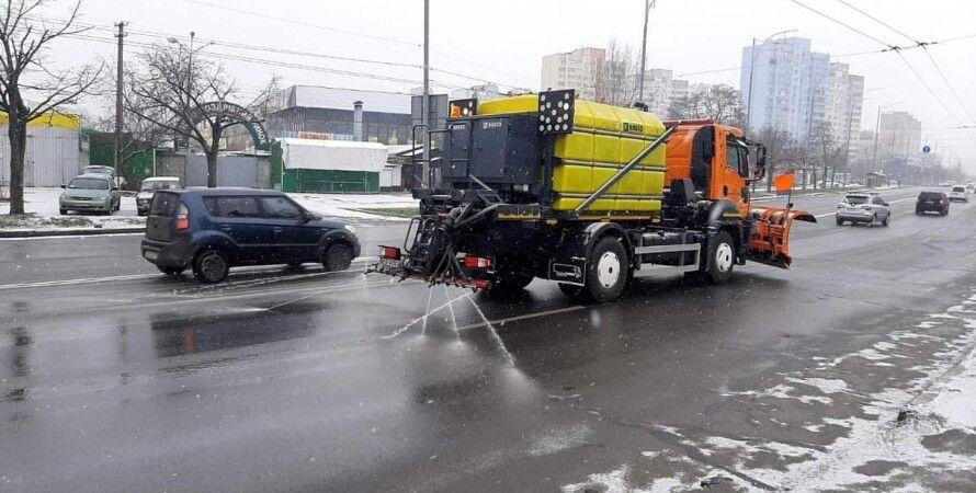 снегопад в Киеве, снег, погода