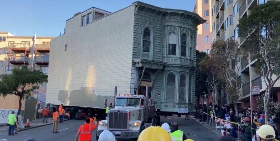дом, перевозка дома, Сан-Франциско
