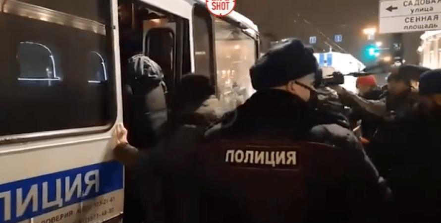 затримання, навальний, акція, пітер, росія, поліція