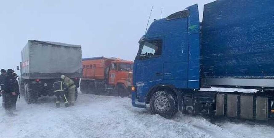 снегопад, киев, фуры, кгга, столица, киев закрывают, непогода, погодные условия, ухудшение погоды