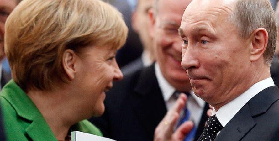 Ангела Меркель и Владимир Путин / Фото: vedomosti.ru