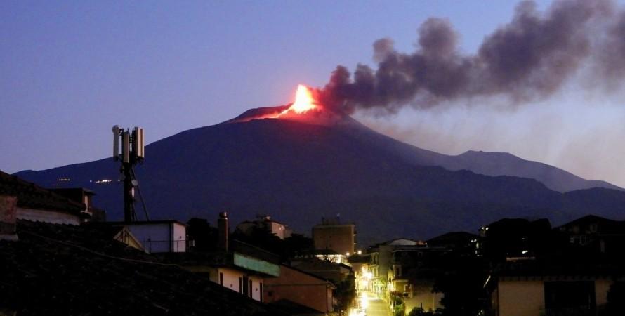 Италия, вулкан, Этна, Стромболи, извержение,