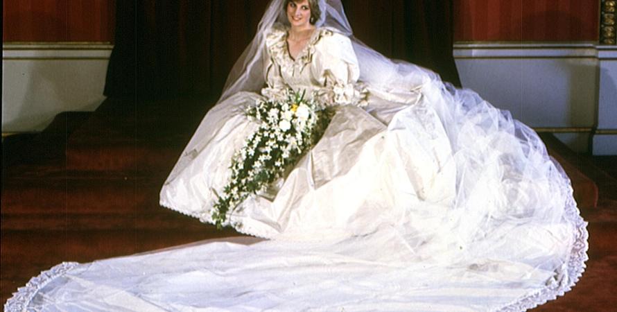 принцесса Диана, свадебное платье