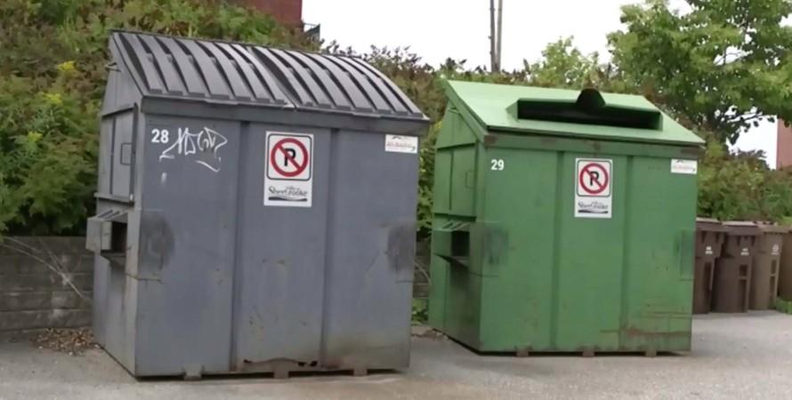Контейнеры для мусора, канада, полиция, фото