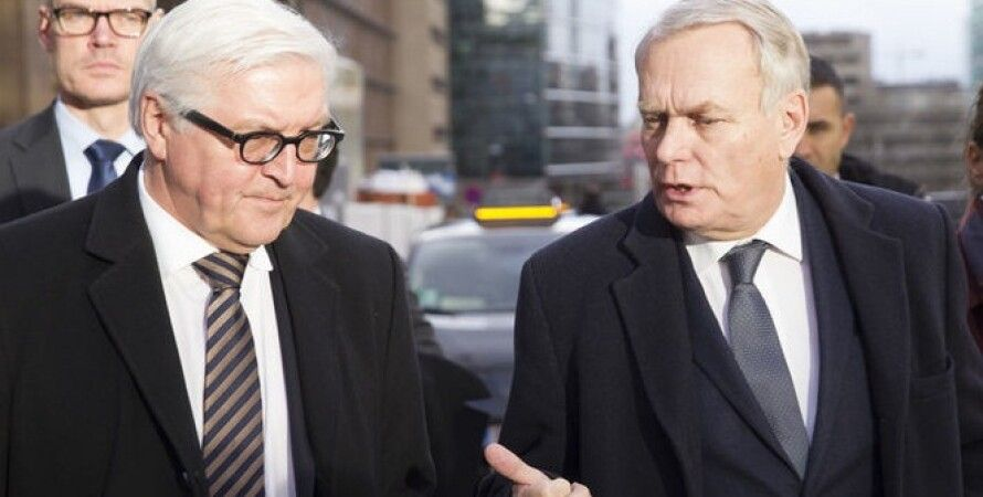 Министры иностранных дел Германии и Франции Франк-Вальтер Штайнмайер и Жан-Марк Эро / Фото: ЕРА