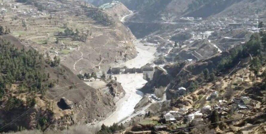 индия, ледник, горы, Гималаи, поселения