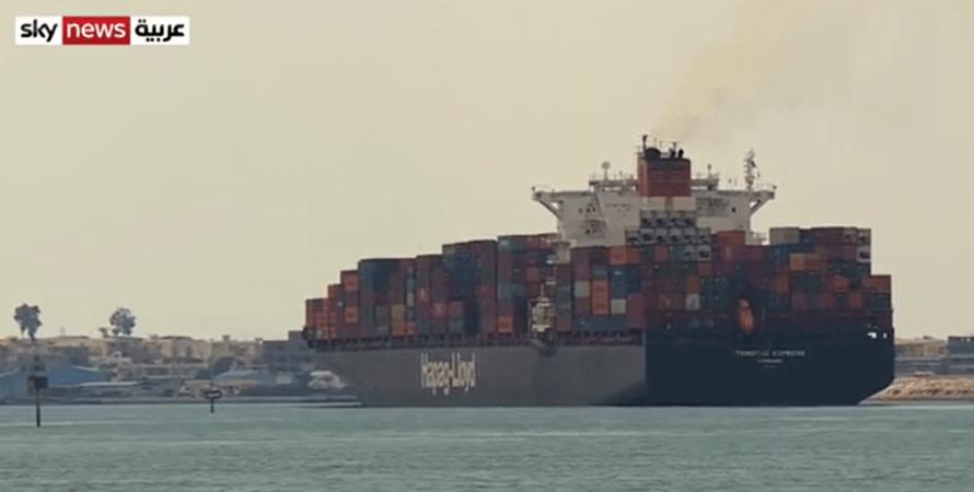 суэцкий, канал, блокировка, судно, египет, фото